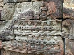 Stock Photo of khmer temple detail