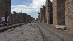 Naples Italy Pompeii ancient Roman road 4K 030 Stock Footage