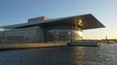 0619 UHD Copenhagen Opera House Stock Footage