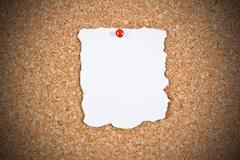 Blank white paper Stock Photos