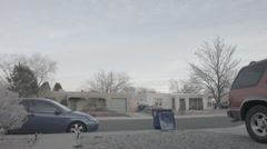 Residential timelpase with contrails Stock Footage