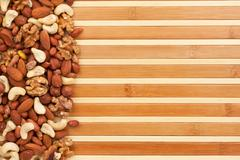 Mixture of nuts Stock Photos
