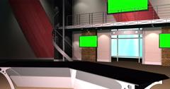 4K HD Virtual TV Studio Set Stock Footage