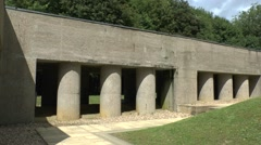 The Trench of Bayonets memorial near Verdun, Meuse, France. Stock Footage