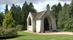 A small chapel marks the spot that was once the village of Douaumont, France. Stock Footage