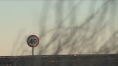 Cargo Truck Passing by Route 40, in Argentina Stock Footage