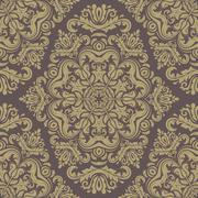 Wallpaper in the style of Baroquen. Abstract Vector Background - stock illustration