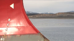 Mountains in the background. Reference of a cargo ship. Ushuaia - Argentina Stock Footage