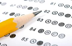 Test score sheet with answers Stock Photos