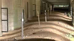 The Trench of Bayonets memorial near Verdun, Meuse, France. Stock Footage