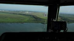 Aircraft Landing, pilot POV Stock Footage