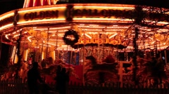Carousel horses Stock Footage