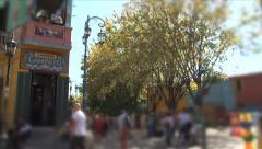 La Boca Neighborhood in Buenos Aires Stock Footage