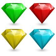 Set of gems Stock Illustration
