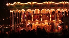 carousel horses - stock footage