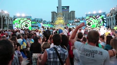 People at concert in Kiev, Ukraine Stock Footage