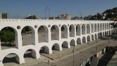 Lapa Arches (Arcos da Lapa) - Rio de Janeiro - Brazil Stock Footage