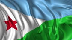 Flag of Djibouti Stock Footage