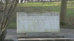 Kennedy memorial magna carta runnymede 4k Stock Footage