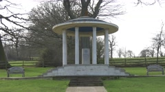 Magna carta memorial runnymede ws 4k zoom in Stock Footage