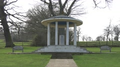 Magna carta memorial runnymede ws 4k Stock Footage