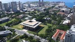 State capitol, downtown, honolulu, oahu, hawaii Stock Footage