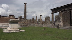 Naples Italy Pompeii ancient Roman temple ruins 4k 062 Stock Footage
