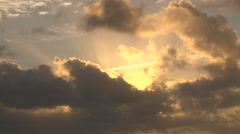Epic Clouds and Sun Glow Time Lapse Stock Footage