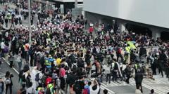 Hong Kong - Pro-democracy demonstrations Stock Footage