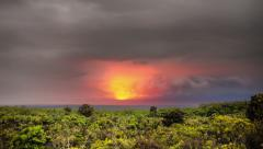 Kilauea volcano time lapse, HDR, Hawaii, Big Island Mauna Loa View 4k Stock Footage