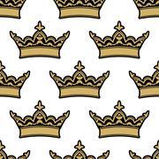 Stock Illustration of royal heraldic seamless pattern