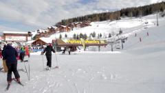 Ski lift in Peisey Vallandry Stock Footage