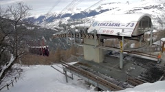 Cable car near Vanoise Express Stock Footage