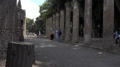 Naples Italy Pompeii couple takes selfy 4K 052 Stock Footage