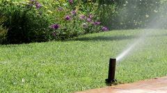 Garden Irrigation Sprinkler H Stock Footage