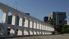 Lapa Arches (Arcos da Lapa) - Rio de Janeiro Stock Footage