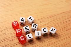 Ppc text cubes Stock Photos