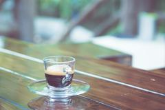 americano coffee cup on table - stock photo
