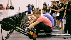 Unidentified athletes during the International crossfit competition Arkistovideo