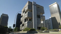 Petrobras Building at Rio de Janeiro Stock Footage