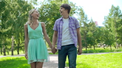 Date Outdoors Stock Footage