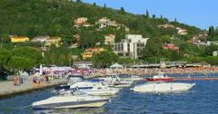 "PORTOROZ - SLOVENIA:  Portorose or ""Port of Roses"", 4K Stock Footage"
