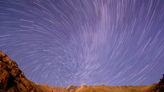Around the Earth's axis. Spiral. Time Lapse Stock Footage