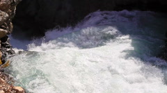 Water flow. Tajikistan. Iskanderdarya. 1280x720 Stock Footage