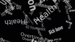 Union Falling Words White Letters on Black Background 4K Stock Footage