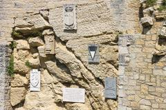 Cava dei balestrieri - quarry crossbowmen in san marino. the republic of san Stock Photos