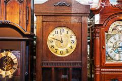 antique clock old time passing . - stock photo