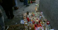 Mass unity rally held in Strasbourg following recent terrorist attacks Stock Footage