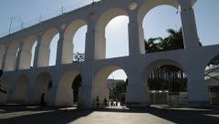 Lapa Arches (Arcos da Lapa) - Panning Movement Stock Footage