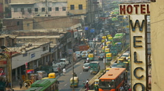Busy New Delhi Street day Stock Footage